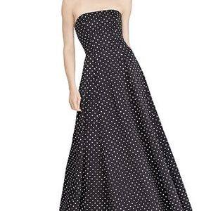 NWT $310 RALPH LAUREN Black Dress Plus Size 16
